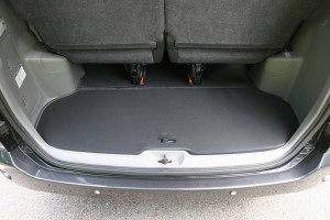 Picture of Toyota Noah boot space with flap closed