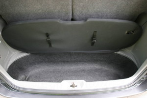 Picture of the boot space in a 2004 Toyota Noah