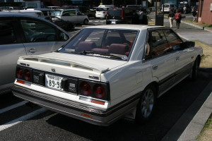 Picture of a white & grey R31 Nissan Skyline Passage GT Twin Cam at Daikoku futo