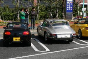 Picture of a Suzuki Cappuchino, Porsche 911 and Honda S2000 at Daikoku Futo