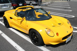 Picture of a yellow Series 1 Lotus Elise at Daikoku Futo