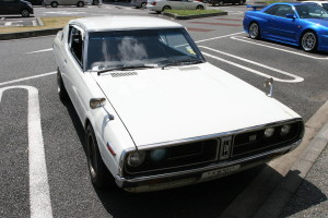 Picture of a Datsun 180K (alternatively a C110 Nissan Skyline)