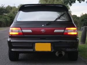 Picture of the rear of a 1994 Toyota Starlet GT Turbo EP82