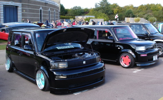 Picture of 2 custom Toyota bB cars