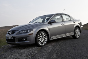 Picture of the front and left hand side of a 2006 Mazda 6 MPS