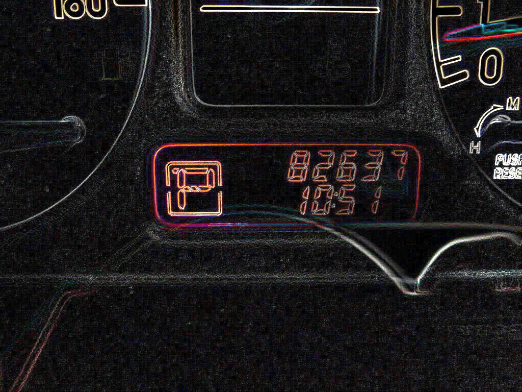 Picture of the odometer on a car imported from Japan: the subject of a Japanese import mileage check