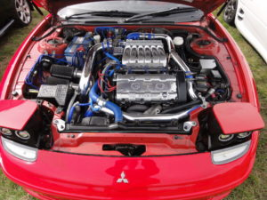Mitsubishi GTO engine bay