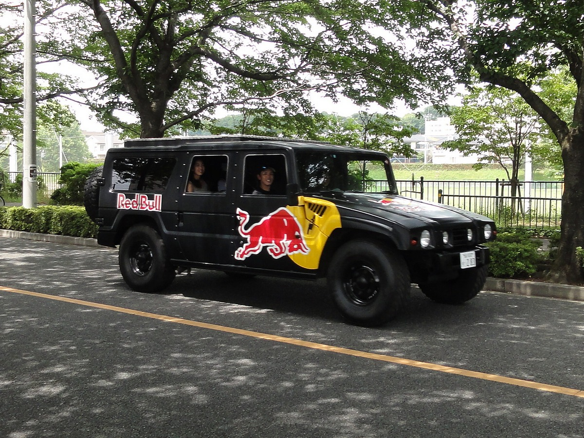 Picture of a Red Bull Toyota Mega Cruiser taken in Tokyo, Japan