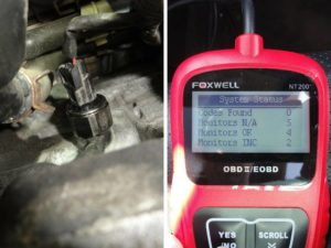 Picture of new knock sensor Honda P0325 code fixed