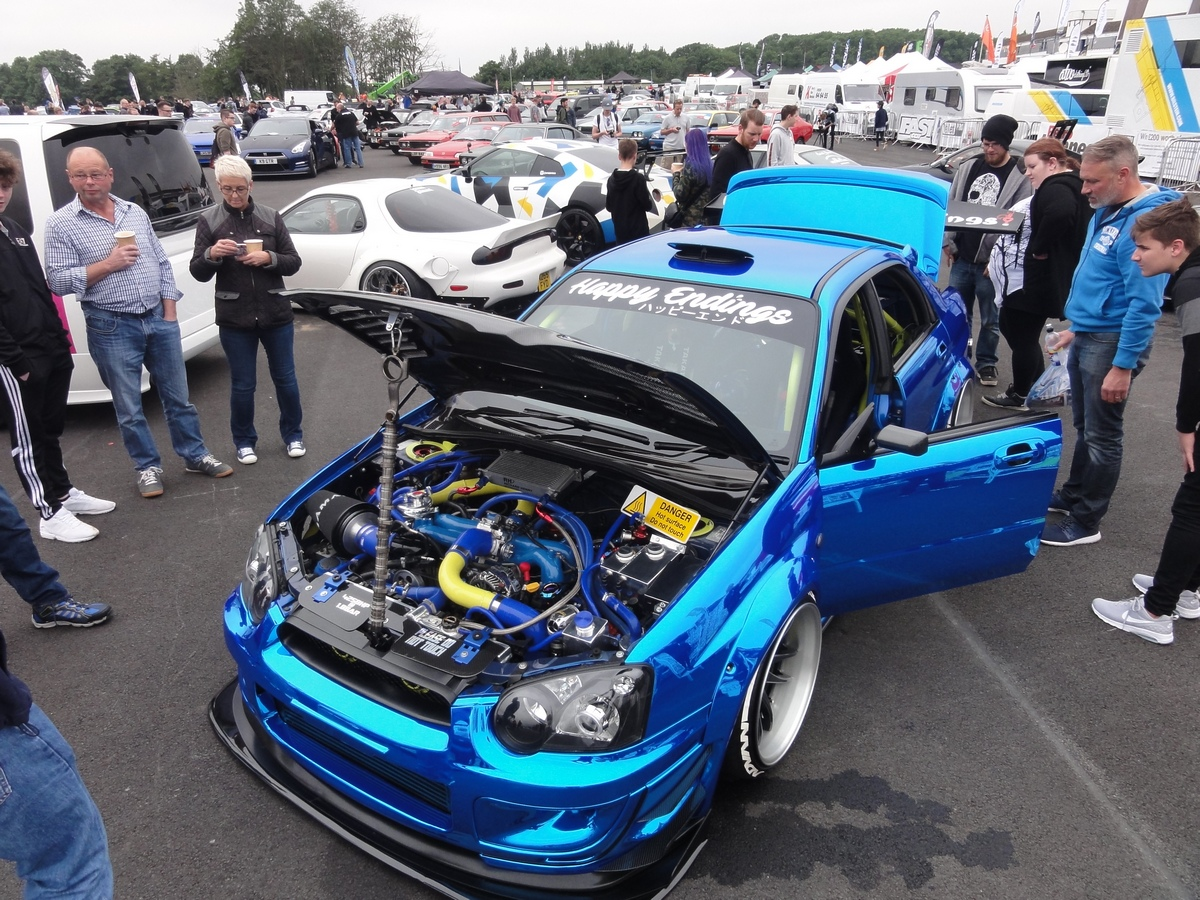 Picture of a tuned Subaru Impreza WRX STi