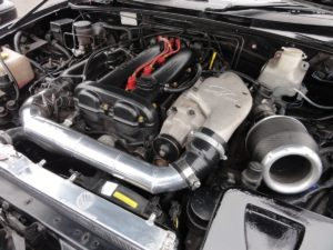 Picture of a Jackson racing supercharger on a Mazda MX-5