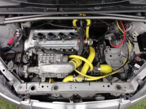 Picture of a supercharged Toyota Yaris
