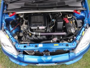 Picture of the engine bay of a Toyota Vitz RS TRD