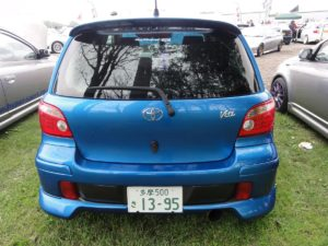 Picture of the rear of a Toyota Vitz RS TRD
