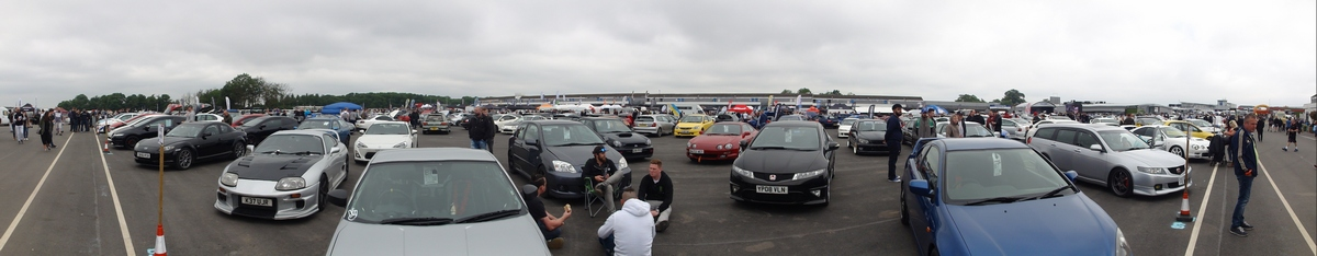 Panoramic picture at Japfest Donington 2017