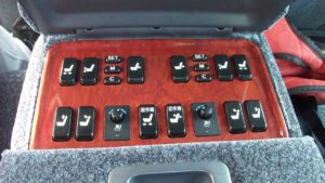 Picture of the Toyota Century rear seat passenger seat controls