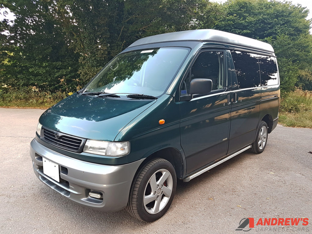 Picture of front left quarter of Mazda Bongo diesel for sale