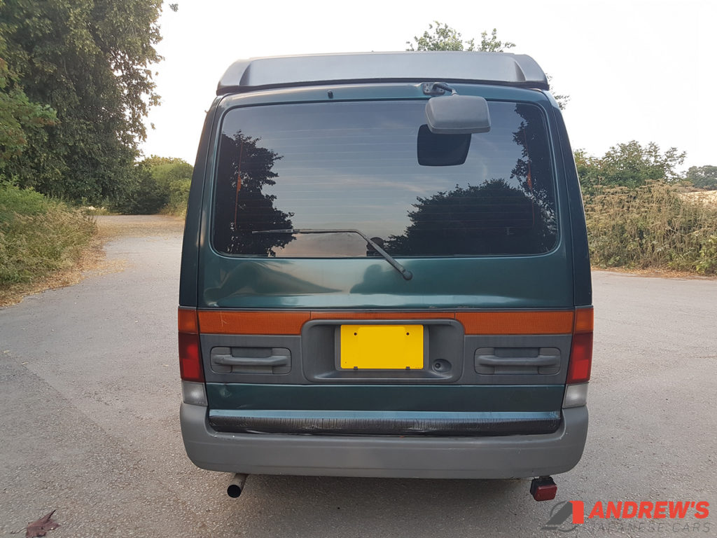 Picture of the tailgate of a Mazda Bongo auto free top 2.5 TD for sale