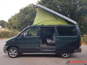 Picture of the left side and sliding door Mazda Bongo auto free top diesel for sale