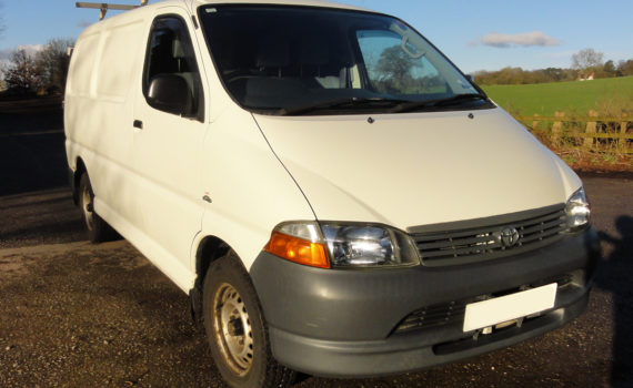 Picture of the front right of a KLH Toyota Hiace