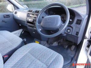 Picture of the interior of a KLH Toyota Hiace