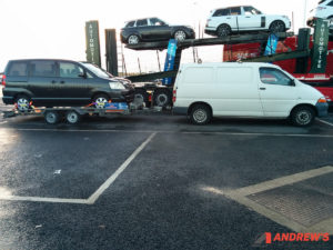Picture of a KLH Toyota Hiace Towing